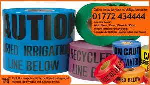 underground warning tape Custom Printed Packaging Tape