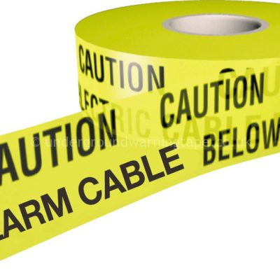 CAUTION ALARM CABLE Underground Warning Tape