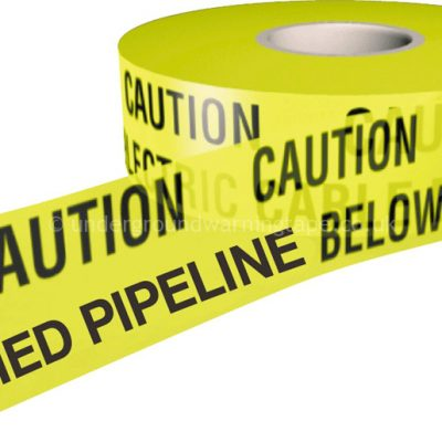 CAUTION BURIED PIPELINE Underground Warning Tape