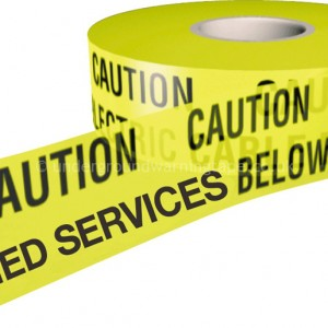CAUTION BURIED SERVICES Warning Tape