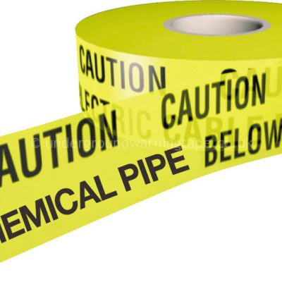 CAUTION CHEMICAL PIPE Underground Warning Tape