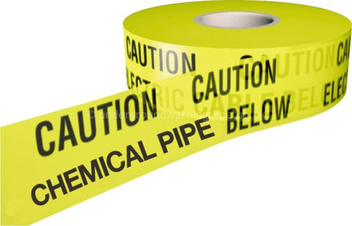 CAUTION CHEMICAL PIPE Underground Warning Tape