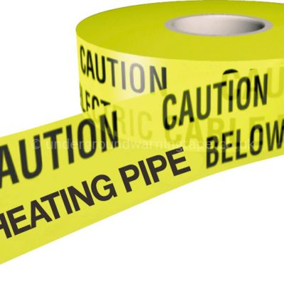 CAUTION DISTRICT HEATING PIPE Warning Tape