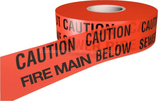 CAUTION FIRE MAIN Underground Warning Tape