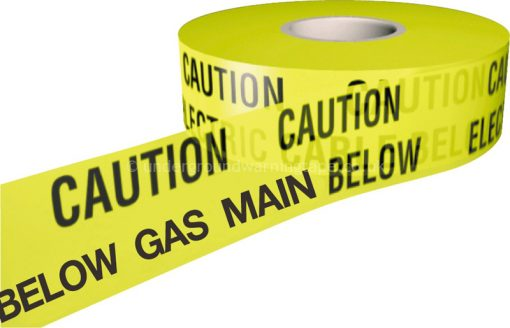 CAUTION GAS MAIN Warning Tape