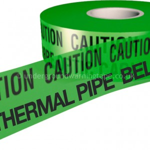 CAUTION GEOTHERMAL PIPE Warning Tape