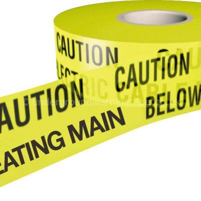 CAUTION HEATING MAIN Warning Tape