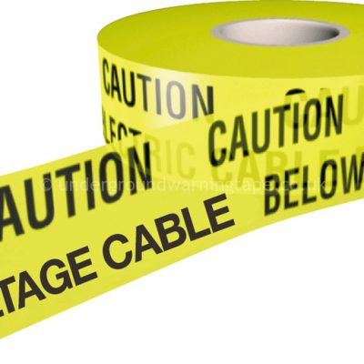 CAUTION HIGH VOLTAGE CABLE Warning Tape