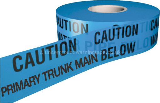 CAUTION PRIMARY TRUNK MAIN Underground Warning Tape