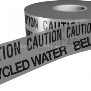 CAUTION GREY / RECYCLED WATER Underground Warning Tape