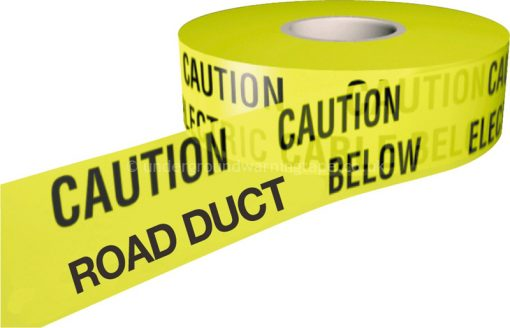CAUTION ROAD DUCT Underground Warning Tape