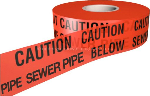 CAUTION Sewer Pipe Warning Tape