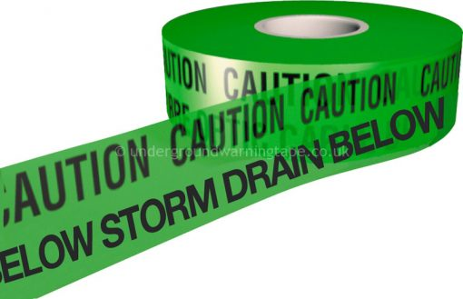 CAUTION STORM DRAIN Warning Tape