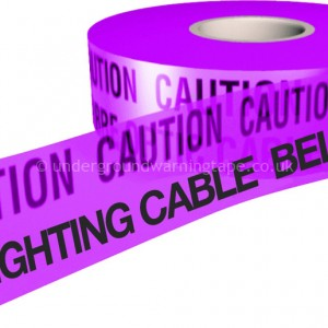 CAUTION STREET LIGHTING CABLE (P) Underground Warning Tape