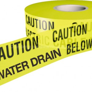 CAUTION SURFACE WATER DRAIN Warning Tape