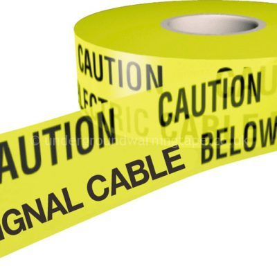 CAUTION TRAFFIC SIGNAL CABLE Warning Tape