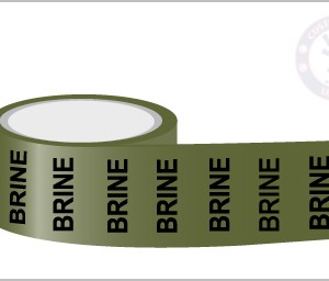 BRINE Pipe Marking Tape