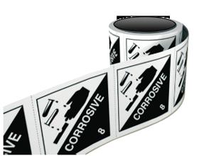 Corrosive-sticker