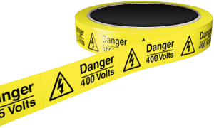 DANGER-400-VOLTS-HAZARD-LABEL-25mm-+-37mm-33m