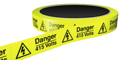 DANGER-415-VOLTS-HAZARD-LABEL-25mm-+-37mm-33m