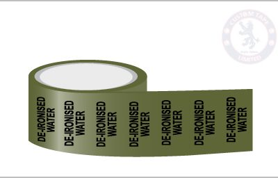 DE-IONISED WATER Pipe Marking Tape