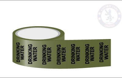 DOMESTIC HOT WATER Pipe Marking Tape