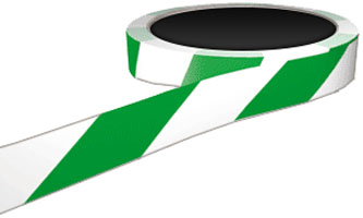 FLOOR-MARKING-TAPE-GREEN-WHITE-50mmx33m