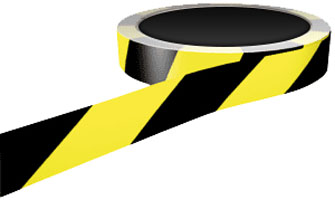 Floor Marking Tape black / yellow 50mm x 33m