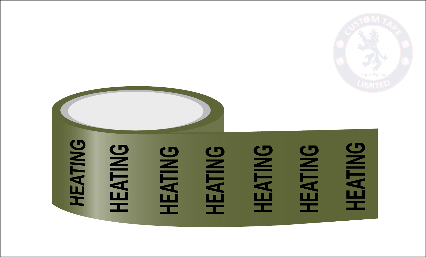 HEATING Pipe Marking Tape