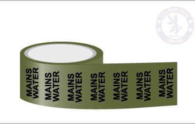 MAINS WATER Pipe Marking Tape