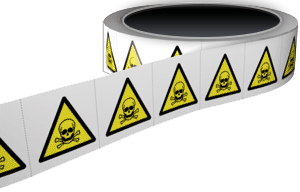 TOXIC-HAZARD-LABELS-50x50mm
