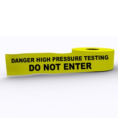 High Pressure Testing Do Not Enter