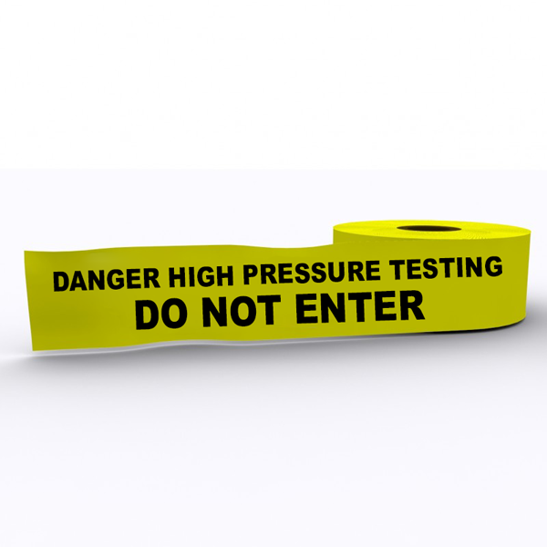 High Pressure Testing Do Not Enter