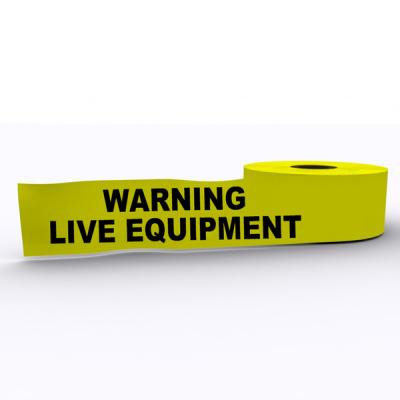 Warning Live Equipment